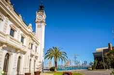 Plaja şi faleza din Valencia Valencia, Au Pair, City Break, Spain Travel, San Francisco Ferry, Places To See, Building, Places, Buildings
