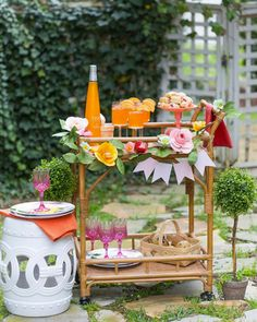 bar carts can transform how you host your backyard party.