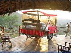 Bed+mosquito net+wheels+happy camper!