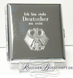 ICH BIN STOLZ DEUTSCHER ZU SEIN Deutschland Germany auf Zigaretten-Etui metall
