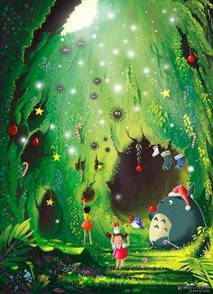 Merry Christmas by Studio Ghibli