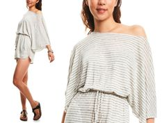 Cute romper! Use as a beach cover-up or dress it up for a night out!