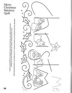 Christmas embroidery pattern