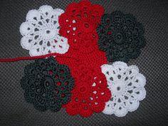Set onderzetters in wit, rood en grijs