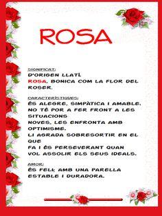Rosa: Qualitats del nom