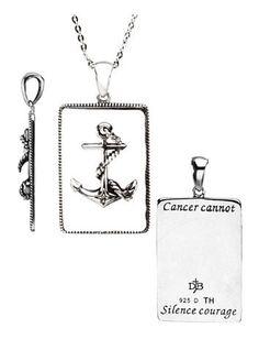 c1ecaa74035c7 Inspirational Message, Breast Cancer Awareness, Diamond Cuts, Dog Tag  Necklace