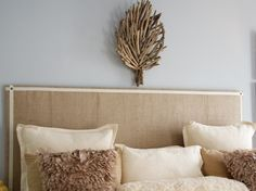 Decorating A Bedroom With Burlap   ... bedroom DIY headboard made of burlap - my fav! , Living Rooms Design