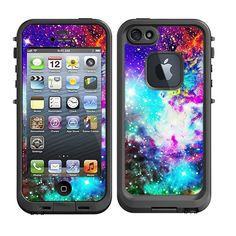 Skins FOR Lifeproof iPhone 5 Case - Galaxy Nebula Colorful Stars - Free Shipping - life proof - Lifeproof Case NOT included on Etsy, $9.95