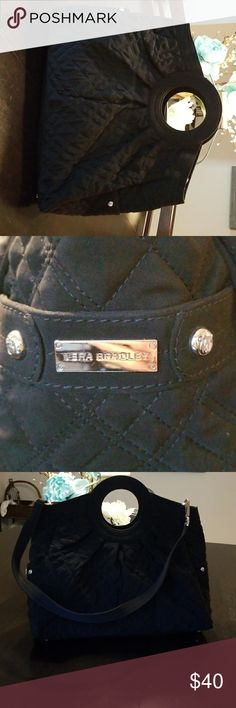 Vera Bradley Purse Beautiful Vera Bradley Purse, zebra pattern inside, has over the shoulder strap, like new, smoke free home Vera Bradley Bags
