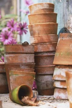Weathered clay ~ the best ~ Vintage Gardening, Organic Gardening, Garden Pests, Garden Tools, Garden Sheds, Box Garden, Garden Junk, Green Garden, Garden Art
