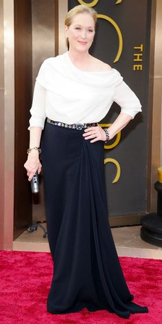Looks we #levolove // Oscars 2014 Red Carpet Arrivals - Meryl Streep from #InStyle