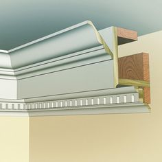 Here's the cross-section of the Georgian cornice. Who's ready to give it a try… Diy Crown Molding, Wood Molding, Molding Ideas, Moulding, Ceiling Decor, Ceiling Design, Glitter Ceiling, Trim Carpentry, Ceiling Treatments