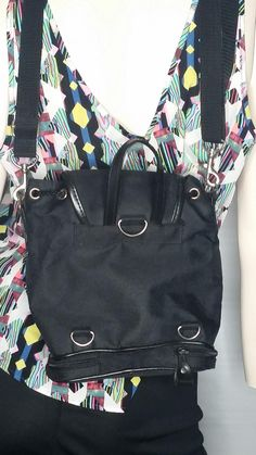 73c457601974 90s Vintage Mickey Mouse Bucket Backpack Black Canvas