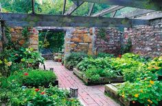 This barn in Lawrence, Kansas in the U.S. went through a fire and then was turned into a garden.