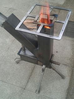 Robotic Welding Comes Of Age – Metal Welding Rocket Stove Design, Diy Rocket Stove, Rocket Stoves, Outdoor Stove, Diy Outdoor Kitchen, Outdoor Cooking, Outdoor Fire, Welding Art Projects, Metal Projects