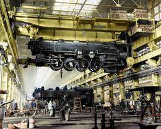 Diesel Locomotive, Steam Locomotive, Canadian National Railway, Old Trains, Vintage Trains, Railroad History, Train Truck, Aircraft Engine, Train Times
