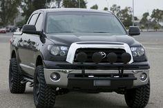 """Toyota Tundra Black 20"""" KMC 651 Slide w/ 305/55R20 Trail Grapplers"""