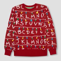 Equal parts spooky and festive, the Stranger Things Ugly Holiday Sweater is the perfect way to show your holiday spirit. Whether Will is trying to send you a message through the holiday lights or you're about to take a trip to the Upside Down, stay ready for adventure with this Stranger Things sweater.