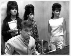 Phil Spector with The Ronettes