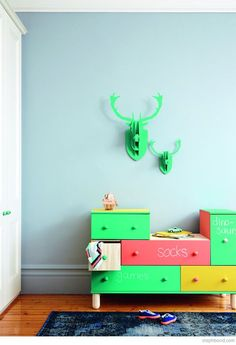 mommo design: IKEA HACKS - Colored chalkboard paint on IKEA PS chest