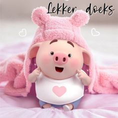 Lekker Dag, Cute Piglets, Goeie Nag, Goeie More, Afrikaans Quotes, Miss Piggy, Good Night Quotes, Little Pigs, Christmas Wishes
