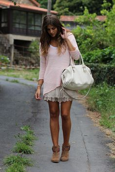 cute boots for this hem length outfit
