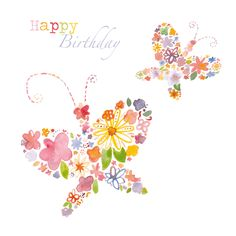 Butterflies birthday card