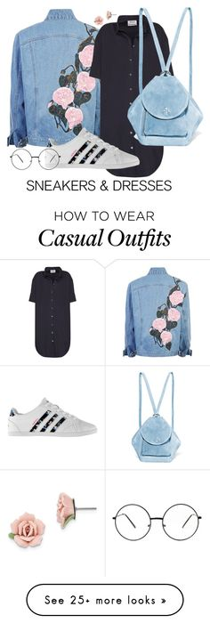 """Cute and Casual"" by bashful-beauty on Polyvore featuring Acne Studios, MANU Atelier, adidas and 1928"