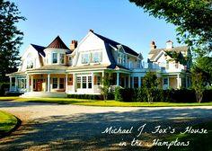 Michael J. Fox's house in South Hampton, what a beautiful home!