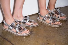 Spring 2015 Fashion Trends From Fashion Week 2015 Fashion Trends, Spring 2015 Fashion, Fashion 2016, Fashion Women, Sneaker Heels, Fashion Boots, Fashion Outfits, Christian Louboutin, Yves Saint Laurent