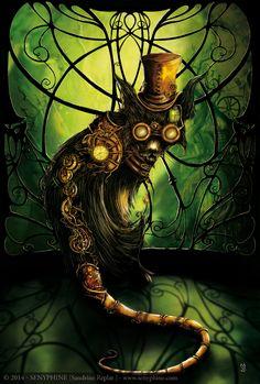 Steampunk Cat - Illustration - Editions du Chat Noir