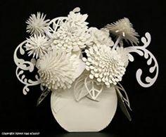 """Vase of Flowers"" using Cricut Machine Tutorial at i love my cricut blog-ilovemycricut.blogspot.com/"