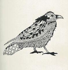 Zentangle inspired artwork, by Loretta A West, CZT