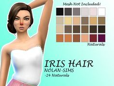 Iris Hair Recolor by Lovelysimmer100 at SimsWorkshop via Sims 4 Updates