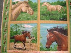 horse quilt panels