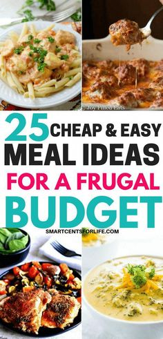 Are you looking for some cheap and easy meals on a budget? Here are some delicious budget friendly recipes you can try this month. Chicken, beef and vegetarian meal ideas that won't break your budget! Healthy Meals For Two, Healthy Meal Prep, Healthy Breakfast Recipes, Easy Healthy Recipes, Paleo Recipes, Healthy Snacks, Dinner Recipes, Paleo Food, Paleo Diet