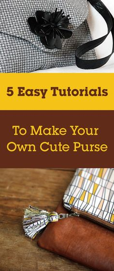 It's so easy to make your own cute little purse.