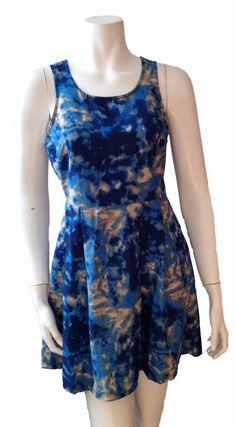 Vero Moda Blue Boho Romantic Sleeveless Sheath Bohemian Mini Dress - SZ XS #VeroModa #Sheath