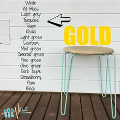 Gold goes with...
