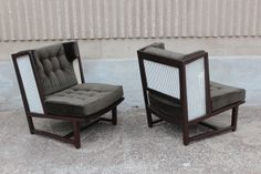 Rare pair of wing chairs by Edward Wormley for Dunbar   From a unique collection of antique and modern lounge chairs at http://www.1stdibs.com/furniture/seating/lounge-chairs/