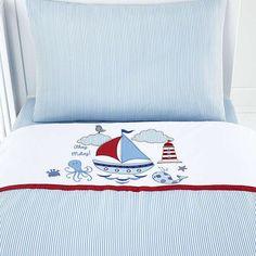 Kids Nautical Nursery Cot Bed Duvet Cover Set | Dunelm