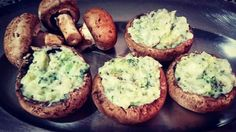 Meu amor pelos 🍄❤ Portobello recheados com brócolis #gengibrebistro