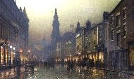 Trinity Church, Leeds by Louis H. Grimshaw  British 1870 - 1943   http://www.haynesfineart.com/paintings/-by-Louis-H--Grimshaw.1439.htm
