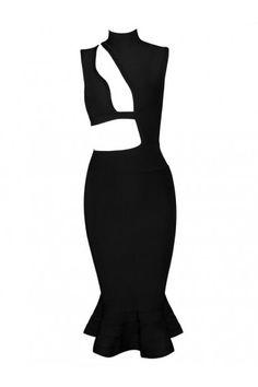 Posh Girl  Hot Sugar Too Black Bandage Dress