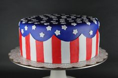 American Flag Cake   Lil' Miss Cakes