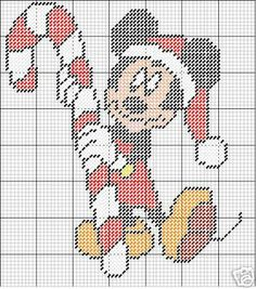 Plastic Canvas Christmas Mickey