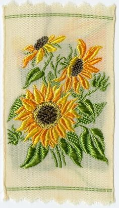 Sunflower embroidery, circa 1932.
