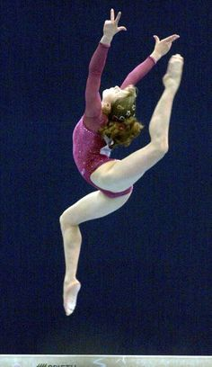 Anna Pavlova of Russia on beam during 2004 Athens Olympics. Probably best routine I've seen