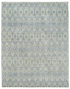 Siam Temple Lt. Blue Rectangle Rug
