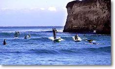 Awesome surf spot. Steamers lane Santa Cruz, California